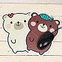 Cuttie White Brown Bear Pad Mouse Pad Wrist Protector Antiskid Cartoon Mouse Mat | Ebay