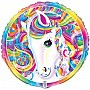 "Rainbow Majesty By Lisa Frank Horse Birthday Party Supplies 18"" Foil Balloon New 